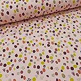 Schickliesel Jersey Stoff Meterware Glitter Dots (rosa)