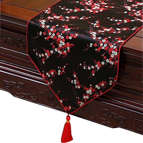 Alien Storehouse 13 x 59 Zoll schwarz Tischläufer Home Table Decor - rote Pflaumenblüte