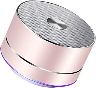 Portable Wireless Bluetooth Speaker Stereo Portable Led Speakers with Built Mic MP3 Subwoof Smart Column Loudspeaker (Color : A)
