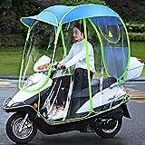 WYB Capota para Motocicleta eléctrica, Paraguas para Scooter Completamente Cerrado, Parasol y Cubierta para la Lluvia extraíbles y Cortinas Laterales extraíbles,B