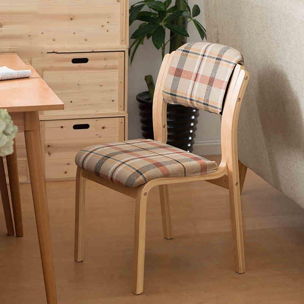 MXXYZ Chaise Pliante Chaises empilables Chaise de Salon Chaise en Bois Chaise d'étude Confortable Chaise de Loisirs Café (Color : 018) 0111