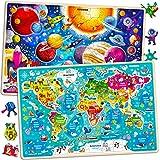 Juguetes Niños 3 4 5 Años - 2 Montessori Juegos Puzzles Infantiles de Madera - Regalo Rompecabezas Animales Educativos para Niñas y Niños 6 7 8