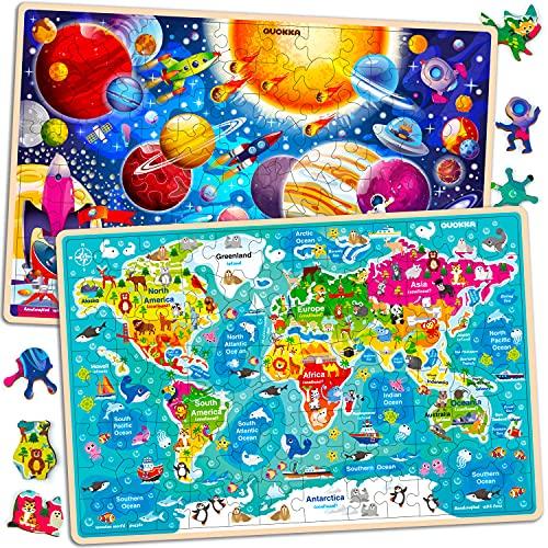 Juguetes Niños 3 4 5 Años - 2 Montessori Juegos Puzzles Infantiles de Madera - Regalo...