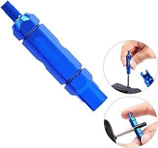 Yababllj Fahrrad Ventilkern, Werkzeug zum Entfernen von Doppelkopf, Multifunktions Extender, Schlüssel, Schlauch, Reifenventil, Entfernen von Reparaturwerkzeugen
