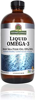 Nature's Answer Liquid Omega-3 | Deep Sea Fish Oil with EPA/DHA Dietary Supplement | Cardiovascular Support | No Preservat...