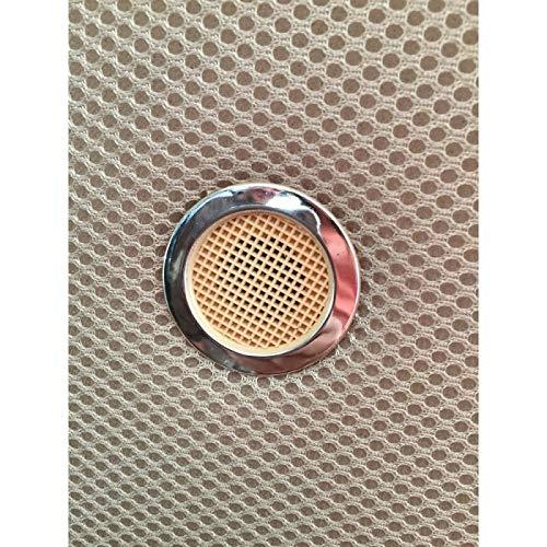 HOGAR24 ES Base tapizada 150 x 190 Reforzada con 7 Patas metálicas Alto 32 cm, tapizado 3D Color Beige + 4 válvulas de transpiración.