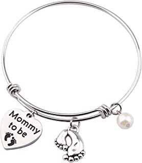 SEIRAA Mommy to Be Bracelet New Mom Gift Pregnancy Announcement Bangle