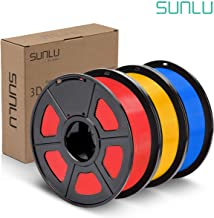 SUNLU PLA Plus Filament 1.75mm 3D Printer 3D Pens 3KG PLA+ Filament +/- 0.02 mm,Red+Pure Yellow+Blue