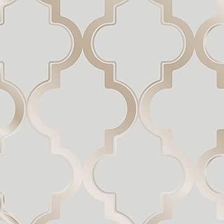 Tempaper Bronze Gray Marrakesh | Designer Removable Peel and Stick Wallpaper