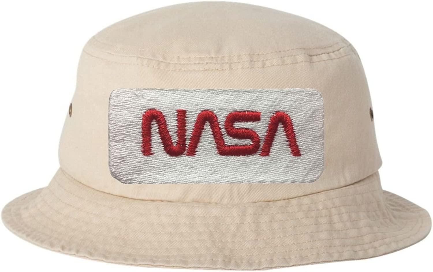 Go All Out Adult NASA Patch Embroidered Bucket Cap Dad Hat