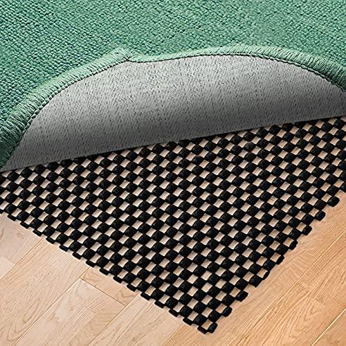 sous-Tapis Antidérapant pour Tapis, sous-Couche Antidérapante pour Tapis Fait de Vinyle de Qualité Supérieure par Becciky (Noir, 40*60cm)