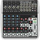 Behringer Q1202USB - Consola de mixage, 230 V, 12 entrantes con interfaz de audio USB, gris oscuro