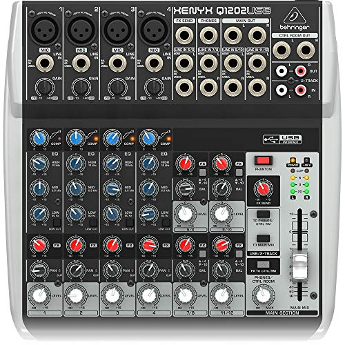 Behringer Q1202USB 12-Channel Mixer,Black