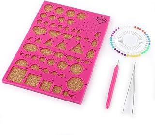 OFKPO Quilling Board avec des Goupilles de Rangement Guide de Grille pour lArtisanat de Papier Rouleau DIY Outil