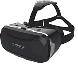Koiiko 3D Visual Reality Helmet, Smartphone Video Movies Game VR Glasses Headset for iPhone X 8 Plus 8 7 6S, Samsung Galaxy, HTC One, LG, Sony Xperia, Moto, Google, 4.0