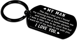Anniversary Giftss for Boyfriend I Love You Keychain for Husband Gifts from Wifey Girlfriend Couple Birthday Gifts for Him...