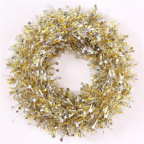 Endless Creations 37cm decorazione ghirlanda oro con mini stelle argento