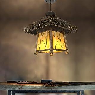 Lampe en bambou suspension en rotin rétro suspension lustre en bambou luminaire chinois sud-est asiatique plafonniers lumi...