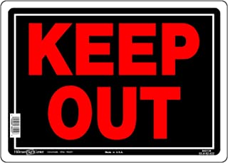 Hillman 840139 Keep Out Sign, Black and Red Aluminum Metal, 10x14 Inches 1-Sign