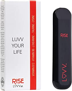 RISE Portable Aromatherapy Diffuser - Breath Natural Mint & Citrus Essential Oils with B12 & B6. Energy Boosting Personal Travel Pen