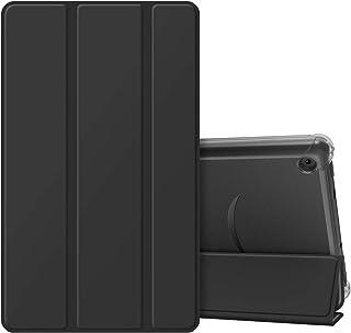Fintie Fire 7 2019年発売 第9世代 ケース 専用保護カバー スリープ機能付き 全面保護型 三つ折り 薄型 軽量 手帳型 半透明 傷つけ防止(ブラック)