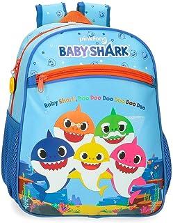 Baby Shark Shark Family Mochila Azul 27x33x11 cms Microfibra 9.8L