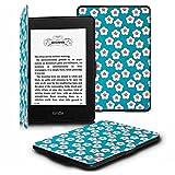 Fintie Kindle Paperwhite ケース 超薄 軽量 保護カバー オートスリープ機能付き (2016 NEW-Kindle Paperwhiteマンガモデル と 2012, 2013, 2015バージョン適応)(花柄x桜(白))