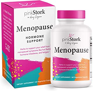 Pink Stork Menopause: Menopause Relief + Ashwagandha to Support Estrogen Levels & Black Cohosh for Hot Flashes, Supports Weight Loss & Hormonal Balance, Women-Owned, 60 Capsules