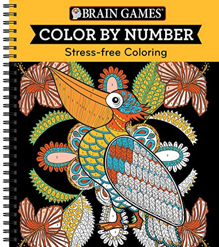 Brain Games - Color by Number: Stress-Free Coloring (Orange)
