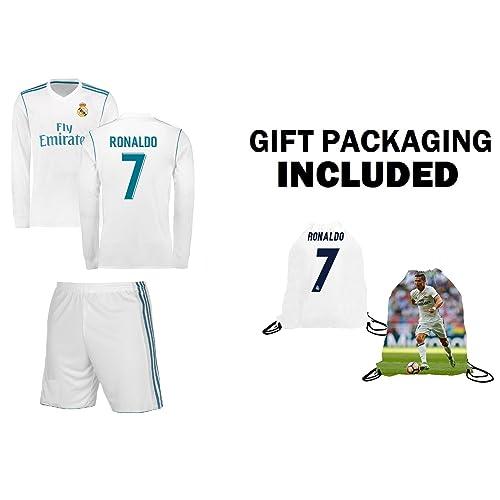 caf2709706a RAMFC Real Madrid Ronaldo Kids  7 Soccer Kit Jersey + Shorts + Bag Gift KIT