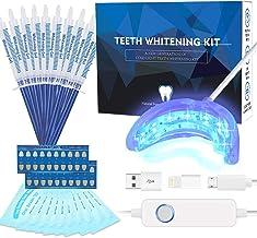 Teeth Whitening Kit Professional, Teeth Whitening Strips, Non-Sensitive Stain Remover for White Teeth, Led Accelerator Lig...