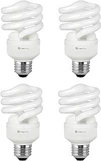 Compact Fluorescent Light Bulb T2 Spiral CFL, 5000k Daylight, 13W (60 Watt Equivalent), 900 Lumens, E26 Medium Base, 120V, UL Listed (Pack of 4)