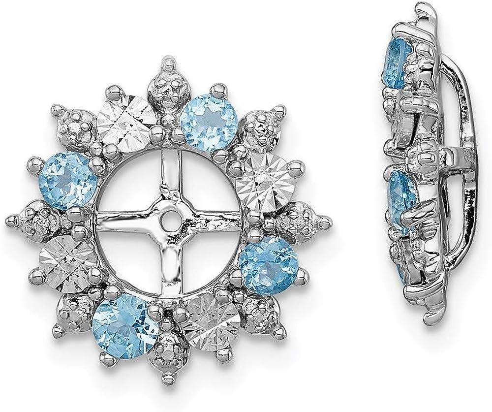 Sterling Silver Swiss Blue San Jose Mall Max 68% OFF Earring Topaz Jackets