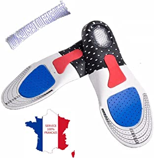 KWIM'S France® Semelles orthopédique semelle gel Sport amorti les chocs - Semelles chaussures soulage les épines calcanéen...