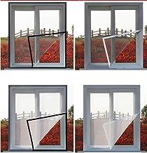 BASHI Raamnet voor insecten en muggengaas met zelfklevende tape, gaasdoek voor raam zonder boren - houd insecten/vliegen/m...