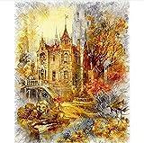 ZHLMMZD Puzzle para Adultos 6000 Piezas Old Castle Jigsaw Puzzle Intelectualmente descomprimido Divertido Juego Familiar Rompecabezas Grande Juguete de Regalo para Adultos Juego de niños