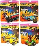 Galoob 4 Veicoli + 4 Personaggi - Z Bots Micro Machines -...