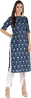 Ayan Fashions Cotton Printed Kurta Pant Set for Women. (Blue)