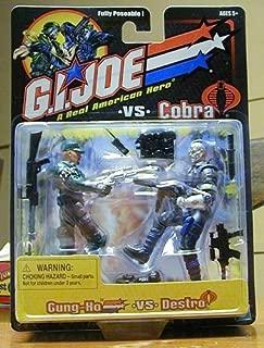 GI JOE vs. COBRA Gung-Ho vs. Destro (Blue Uniform) Action Figure 2 Pack