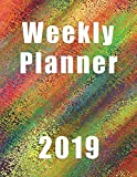 Weekly Planner 2019: Rainbow Sparkle|Planner|Agenda|Notes|To Do