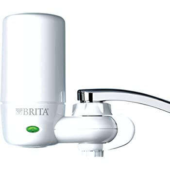 Brita 7540545 On Tap Faucet Water Filter System, Pack of 1, White w/Indicator