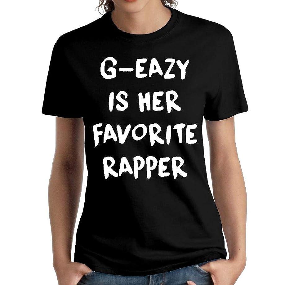 JeffryG Women's G-Eazy is Her Favorite Rapper Short Sleeve T Shirt Black