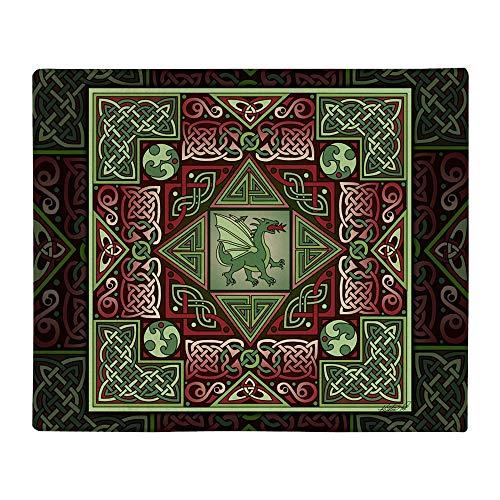 CafePress Celtic Dragon Labyrinth Throw Blanket Soft Fleece Throw Blanket, 50'x60' Stadium Blanket