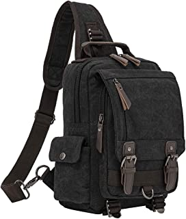Retro Messenger Bag Canvas Shoulder Backpack Travel Rucksack Sling Bag Carrying Cases