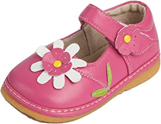 Toddler Shoes | Squeaky Pink, White or Brown Flower Mary...