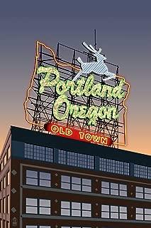 Portland, Oregon - Made in Oregon Sign (9x12 Art Print, Wall Decor Travel Poster)