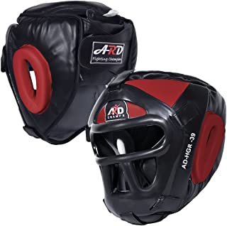 ARD Leather Art MMA Boxing Protector Head Guard UFC Wrestling Helmet Head Gear