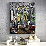tzxdbh Pablo Picasso Atelier HD Leinwanddrucke Wohnzimmer Wohnkultur Kunstwerk Moderne Wandkunst Ölgemälde Poster Bilder Kunst