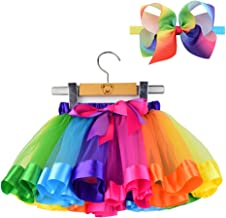 BGFKS Tulle Rainbow Tutu Skirt for Newborn Baby Girls Photography Outfit Sets Baby Girls 1st Birthday