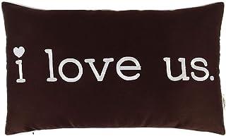 Vargottam EmbroideredI Love USLumbar Decorative Throw Pillow Cover Lumbar Pillow Cover Farmhouse 12x20 Inches